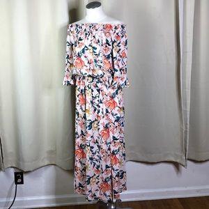 En Creme boho rayon peasant dress size medium